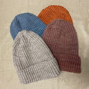 Four Machine Knit Hats