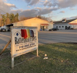 Battenkill Fibers Sign & Front of Building