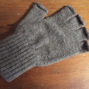 Fingerless Gloves on Wood Table
