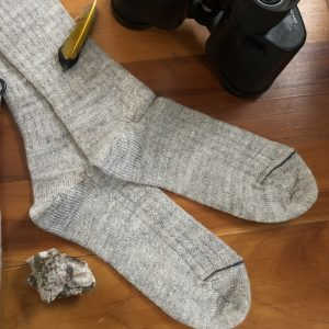 Machine Knit Socks - Large