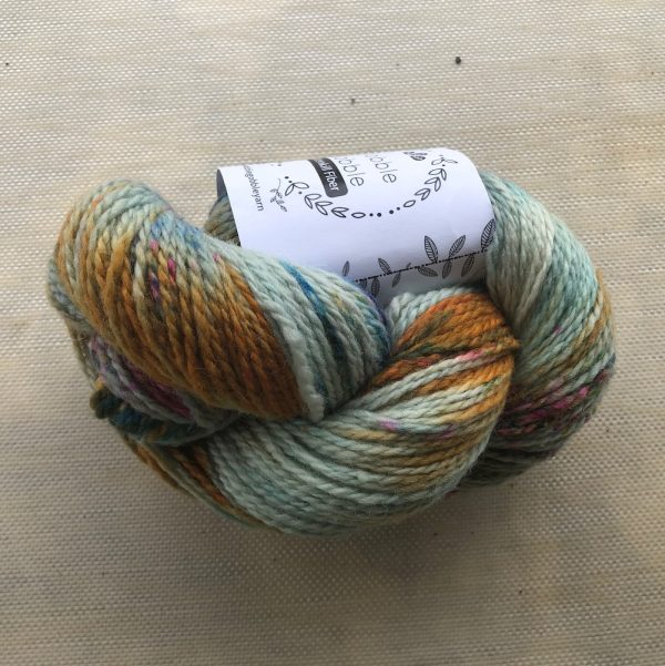 Wobble Gobble : Old Fence Hand Dyed Yarn Skein