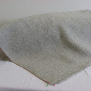 Natural Grey Handwoven Wool Yardage