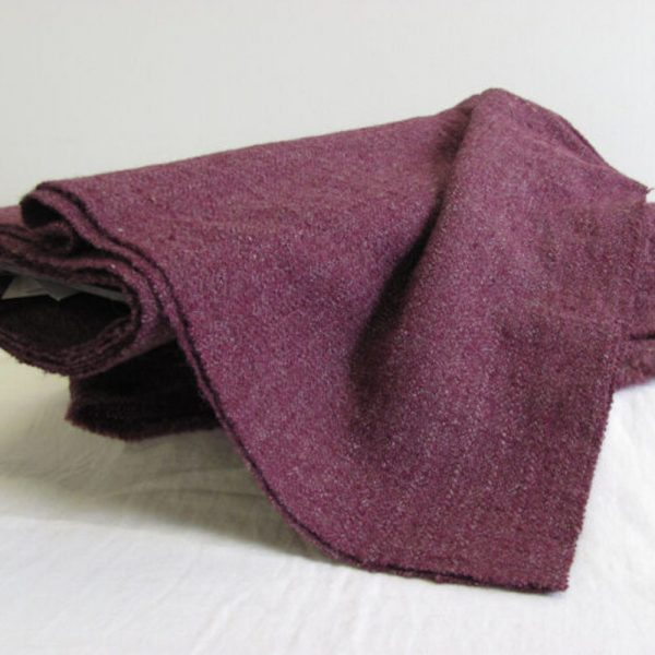 Winter Plumb Handwoven Wool Yardage